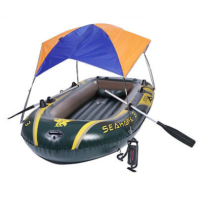 Inflatable boat Sun Shelter Fishing Tent Rubber Boat for 2 person Boat Awning
