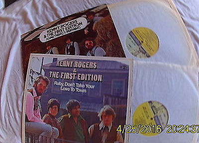 KENNY ROGERS & 1ST EDITION job LOT 2 REPRISE EARLY LP VINYL RECORD country rock
