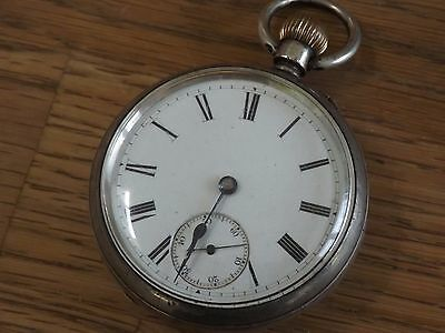 London Antique T. Burchett Solid Sterling Silver Pocket Watch