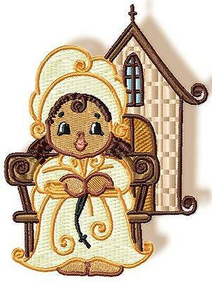 Religious Sunbonnets 10 Machine Embroidery Designs Cd 2 Sizes