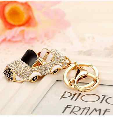 car Keychain Rhinestone Crystal Keyring Key Ring Chain Bag Charm Pendant Gift