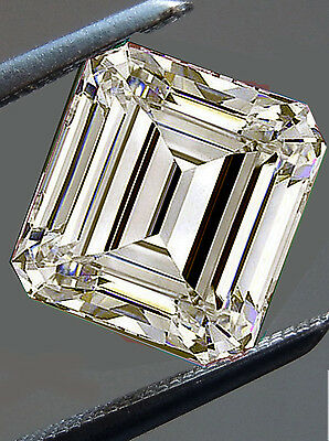 1.31 ct VVS1/WHITE YELLOW BROWN COLOR LOOSE EMERALD REAL MOISSANITE FOR RING