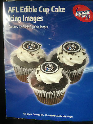 Official AFL Collingwood Edible Cup Cake Images