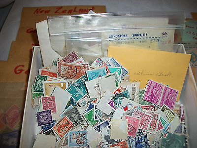 Estate Find 1950s-1960s Used Worldwide Foreign Stamp Collection Lot UNSEARCHED