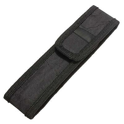 Black 16cm  Nylon Holster Holder Pouch Case for LED FlashLight Torch Light UJ