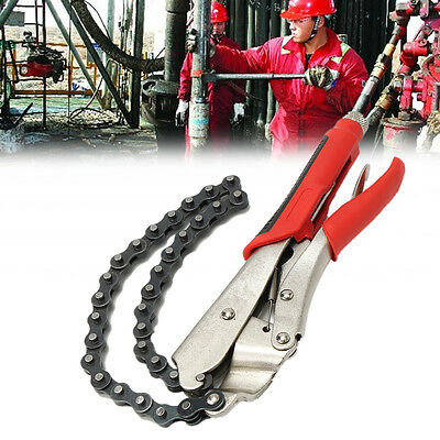 9'' Adjustable Steel Locking Chain Clamp Plier Vise Wrench Tool For Oil Filter
