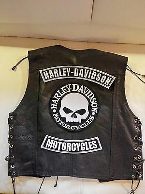 Harley Davidson Backpatch-Set G.Willis Skull Biker Kutte Chopper MC ohne Kutte