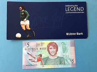 George Best £5 Pound Note, Uncirculated With Folder.