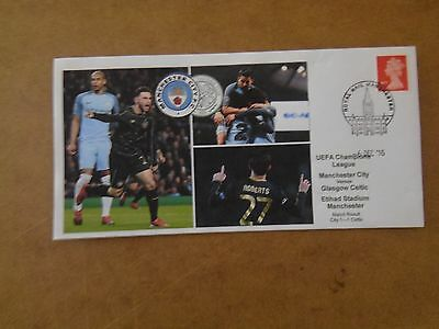 Manchester City V Glasgow Celtic Uefa C/l 2016 First Day Cover
