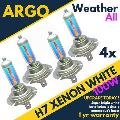 4x H7 100w Super Weather White Xenon Upgrade Headlight Bulbs 499 12v Full/dipped