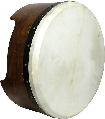 Glenluce 16in TUNEABLE BODHRAN w/ 7in deep body and tuning rim! Irish Folk Drum
