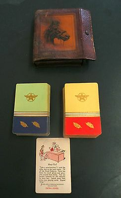 """VINTAGE """"FLYING A"""" GASOLINE & 0IL ADVERTISING PLAYING CARDS 2 DECKS  from ESTATE"""