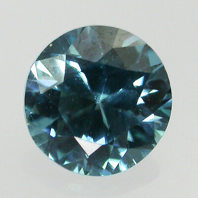 Exotic Gem Natural Diamond Cut Blue Zircon Round 7 Mm 1.90 Carats From Cambodia