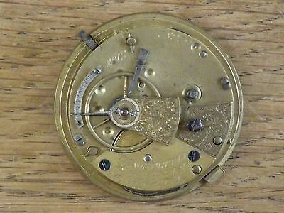 Clerkenwell Antique A. Loafler Fusee Fob/pocket Watch Movement