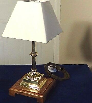 A Quality Original, Antique Edwardian Brass Table / Desk Lamp Circa-1910-20.