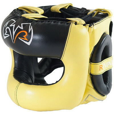 Rival Boxing Guerrero Facesaver Headgear - Yellow