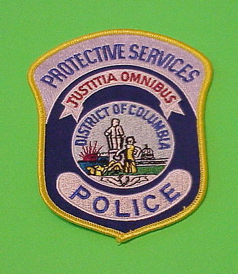 District Of Columbia  Dc  Protective Services  Police Patch   Free Shipping!!!