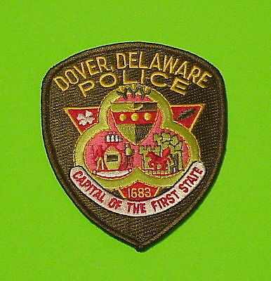 "Dover  Delaware  ""capital Of The First Statte""   Police Patch   Free Shipping!!!"