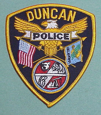 Duncan  Oklahoma  Ok  Police Patch    Free Shipping!!!