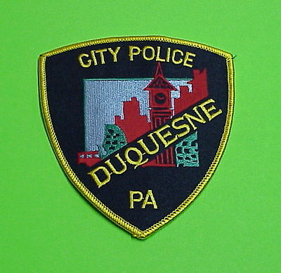 Duquesne  Pennsylvania  Pa   ( Gold Border )  Police Patch   Free Shipping!!!