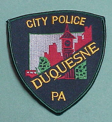 Duquesne  Pennsylvania  Pa   Police Patch  Very Nice!!   Free Shipping!!!