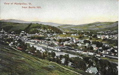 View of Montpelier from Berlin Hill VT nice postcard not postally used