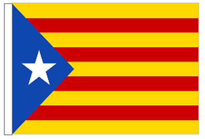 Spain Catalonia Estelada Lone Star Courtesy Flag for Boats 45cm x 30cm