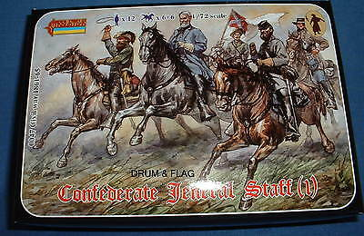 STRELETS Set 47 - CONFEDERATE GENERAL STAFF - 1/72 SCALE