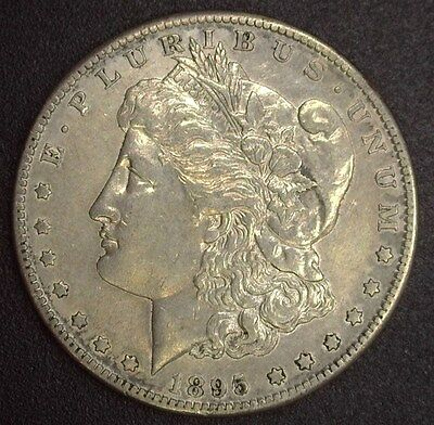 1895-S Morgan Silver Dollar  About Uncirculated  Better Date!