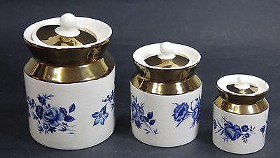 Set of 3 Vintage Wade Canisters / Storage Containers