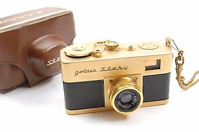 Riken Golden Steky Subminiature camera with 2.5cm f3.5 Stekinar lens, VGC cased