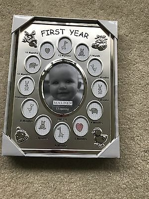 Malden International Designs Baby's First Year Picture Frame 13 Opening