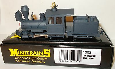 Minitrains 1002 - 0-4-0 Loco & Tender, Black - Boxed. (009/HOe Narrow Gauge)