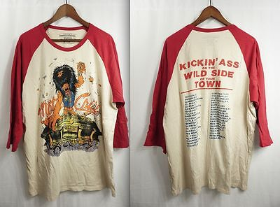 MOTLEY CRUE RETRO TOUR SHiRT - XL Kickin Ass Wild Side 2011/1987 metal/GiRLS