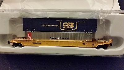 Z Scale AZL  TTX 53' well car with containers 91601-1