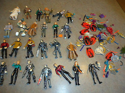 "Star Trek action figure toy lot 24pc  5"" space  A"