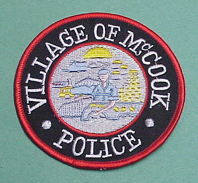 McCOOK  VILLAGE  ILLINOIS  IL   POLICE PATCH   FREE SHIPPING!!