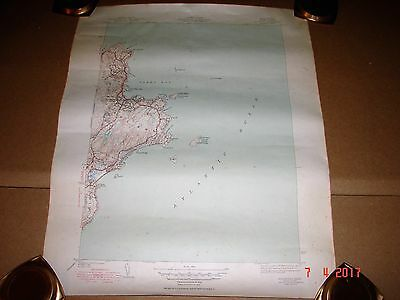 1950 Rockport Mass. Topographic Map