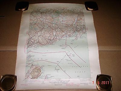 1945 Marblehead North, Mass. Topographic Map, Part of Salem, Bevery, Manchester