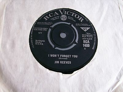 Jim Reeves,I Won't Forget You/A Stranger's Just A Friend (RCA Victor)