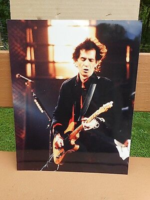 #8 Real Color Photo's Of The Rolling Stones Keith Richards Concert 14x11
