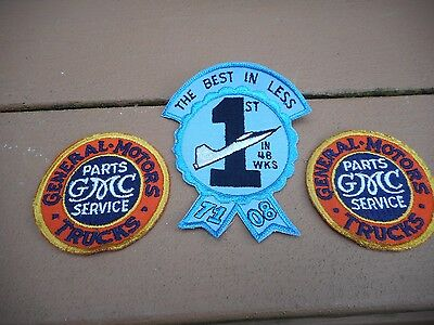 2008 GM Truck Parts Service Award Employee Patches THREE