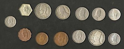 Egypt 13 Different Kingdom Coins 1922-1952 Some Silver ( Faud I + Farouk )