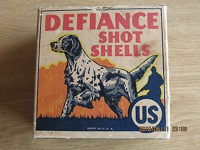 Offered Is This Scarce U.s.cartridge Co. Defiance12 Ga Shotgun Shell Box