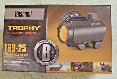 Bushnell Trophy Red Dot TRS-25 3 MOA Red Dot Reticle Riflescope, 1x25mm