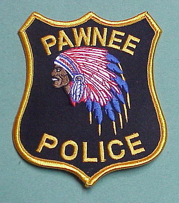 Pawnee  Illinois  Il ( Indian )  Police Patch  Very Nice!!   Free Shipping!!!