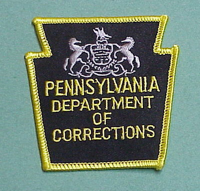 Pennsylvania   Dept. Of Corrections  Pa  Patch   Type #1   Free Shipping!!!