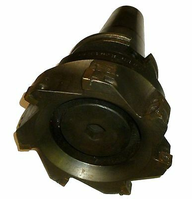 """6"""" Seco R220.69-06.00-15H Indexable Face Mill W/ Cat 50 Adapter Stock #n19"""