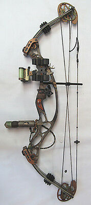 Used Hoyt X-Tec 1000 hunting compound bow LH with accessories