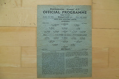 Walthamstow Ave v Southall 1944 Herts & Middlesex League